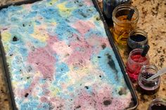 Ever notice that sometimes all it takes is a fun activity to change your kid's mood?  Try this post for baking soda and colored vinegar -- along other focused fine motor activities to help young kids reset.