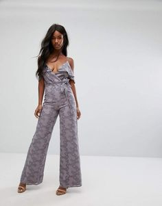4ef57ca41278 Oh My Love Wide Leg Jumpsuit With Frill Trim