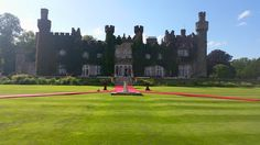 A stunning view of the back of the castle red carpet ready for the arrival of the new Mr & Mrs at Luttrellstown Castle Resort