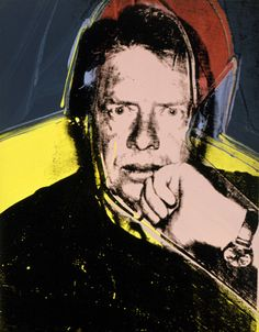 Andy Warhol (American, 1928-1987) Jimmy Carter, 1976 acrylic and silkscreen ink on linen 14 x 11 in. (35.6 x 27.9 cm.) The Andy Warhol Museum, Pittsburgh; Founding Collection, Contribution The Andy Warhol Foundation for the Visual Arts, Inc. © The Andy Warhol Foundation for the Visual Arts, Inc. 1998.1.514 Read more at warhol.org: http://www.warhol.org/collection/aboutandy/Career/Entrepreneur/1998-1-514/#ixzz1mgQrO69h