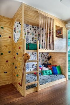 Cool Kids Bedrooms, Kids Bedroom Designs, Kids Room Design, Baby Bedroom, Girls Bedroom, Kid Beds, Girl Room, Bento, Playroom