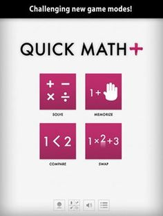 Quick Math pupils and students maths apps