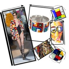 """""""MCreations - BeMomartins - Mondrian"""" by alvufashionstyle on Polyvore"""