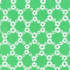 CX5912 jemma flowers happy tones lime green