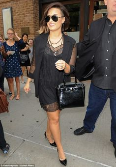 That's a nice change! Demi Lovato looked especially sophisticated as she stepped out in Ne...
