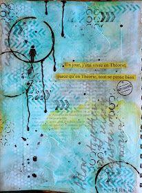 Wood And Fabric: Du art journal et une petite nouveauté! Bullet Art, Bullet Journal Art, Art Journal Pages, Junk Journal, Art Journals, Kunstjournal Inspiration, Sketchbook Inspiration, Creative Inspiration, Mixed Media Journal