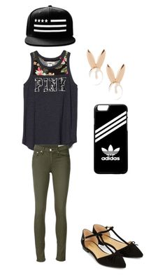 """""""Untitled #39"""" by pizzalove123 on Polyvore featuring rag & bone/JEAN, adidas, Accessorize and Aamaya by priyanka"""