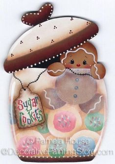 The Decorative Painting Store: Sugar Cookies Ginger ePattern by Pamela House. Gingerbread Ornaments, Gingerbread Decorations, Christmas Gingerbread, Christmas Wood, Christmas Crafts, Christmas Decorations, Christmas Ornaments, Ginger Babies, Country Paintings