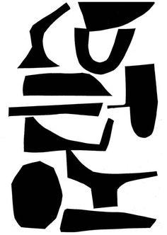 "lauraslater: "" 'Assemble Configure' Silhouette drawings (c) Laura Slater 2012 "" Drawing Fist, Shading Drawing, Abstract Shapes, Abstract Pattern, Korn, Laura Slater, Office Artwork, Composition, Shape Art"