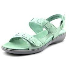 Trotters Grace Women W Open TOE Leather Blue Slingback Sandal   eBay
