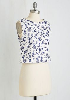What a Catch! Top | Mod Retro Vintage Short Sleeve Shirts | ModCloth.com