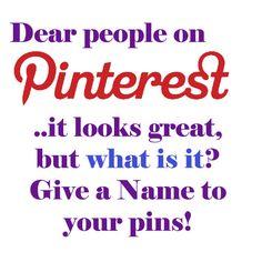 Dear Pinterest..