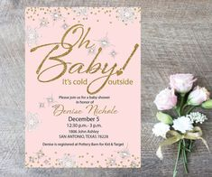Printable Oh Baby It's Cold Outside Shower by MElizondoDesigns