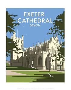Art Print: Exeter Cathedral - Dave Thompson Contemporary Travel Print by Dave Thompson : Yosemite National Park, National Parks, Exeter Cathedral, Ways Of Seeing, Vintage Travel Posters, Framed Artwork, Art Prints, Landscape, Contemporary