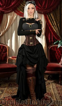 Skinnyfit Button Shrug Steampunk Couture