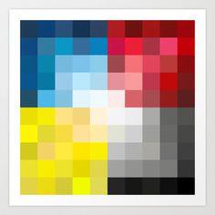 CMYK Pixel Art Print by Kimsey Price