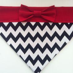 Dog+Bandana++Black+Chevron+with+Red+Bow+by+SpottedDogShop+on+Etsy,+$9.95