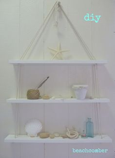 Beachcomber DIY beach shelves