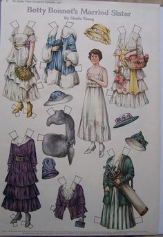 Paper Dolls Ladies Home Journal Betty Bonnet's Married Sister 1916 | eBay