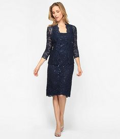 Jessica Howard Lace Jacket Dress #Dillards - navy $110 #04269148 ...