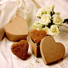 Heart shaped boxes with heart warming Grasmere Gingerbread hearts :)
