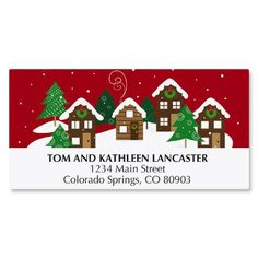 Snowy VillageChristmas Address Labels $3.99