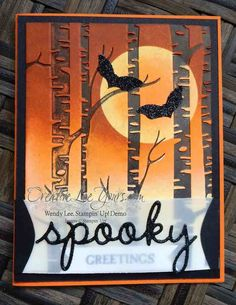 Spooky Trees by Wendy Lee, #creativeleeyours, Stampin' Up!, Halloween