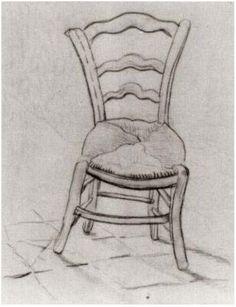 Vincent van Gogh Silla Drawing                              …