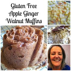 Gluten Free Apple Ginger Walnut  Muffins by Jean Layton