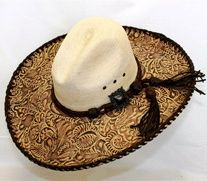 Red Star Riggings Tooled Old West Hat from Ranch at the Rim