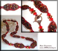 Free pattern for beautiful beaded bead East by Vika Osadchenko. With this nice pattern u can make necklace, bracelet, pendant and anything u wish!