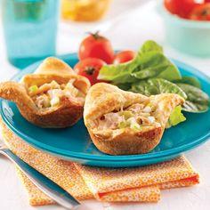Poulet tzatziki en pâte phyllo - 5 ingredients 15 minutes Mini Quiches, Muffins, Tzatziki, Diet And Nutrition, Entrees, Healthy Snacks, Vitamins, Sandwiches, Brunch