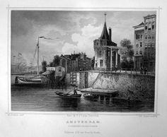 Amsterdam-Schreijershoekstoren | Herkomst : J.L. Terwen - Het Koningrijk der Nederlanden, afm. 14 x 20 cm Staalgravure 1860