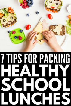 Healthy School Lunches for Picky Eaters   If you're looking for tips to help you pack school lunches for kids who refuse to eat anything nutritious, we're sharing 7 simple tips and over 40 fun bento box lunch ideas to inspire you to think outside the lunchbox and be creative! Who said kids meals need to be stressful?! Healthy School Lunches, Kids Lunch For School, Healthy Meals For Kids, Healthy Options, Healthy Foods To Eat, Healthy Eating, Healthy Recipes, After School Snacks, Healthy Dishes