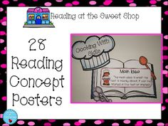 Sweet Shop: Reading Posters These are perfect for a reading area.