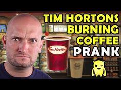 Tim Hortons Burning Coffee Prank - Ownage Pranks (+playlist) LMFAO !!!