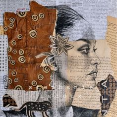 Mix of paper - Stéphanie Ledoux--Example of using various paper as grounds