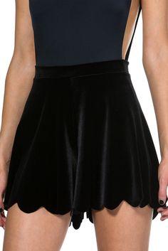 Velvet Black Shorties - S
