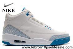 Wholesale Discount White/Harbor Blue/Border Blue Air Jordan 3 (III) Retro Newest Now