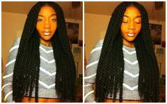 marley twists | found a pic of some yarn twists done on this girl, and they look so ...