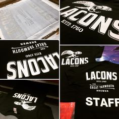 Screen printed some great designs for an awesome local brewery today! #laconsbrewery #tshirts #screenprinting #greatyarmouth