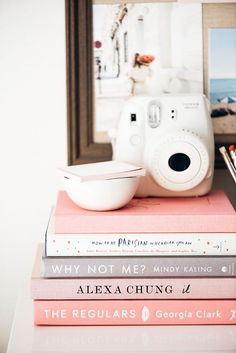 how to be parisan wherever you are why not me? by mindy kaling it by alexa chung pink books I Love Books, Books To Read, My Books, Girl Boss Book, Mindy Kaling, Book Aesthetic, Book Photography, White Photography, Minimalist Photography