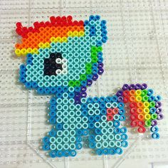 MLP Rainbow Dash perler beads by purpledemom