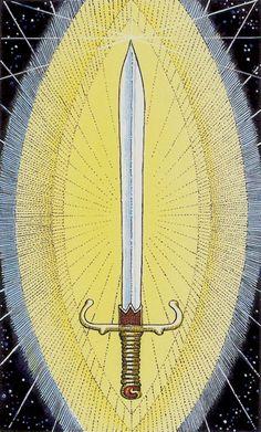 Ace of Swords - Cosmic Tarot by Norbert Losche