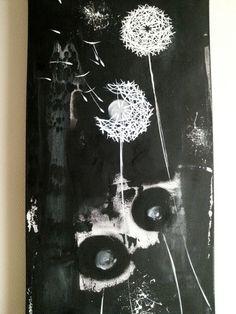 Pusteblumen Abstrakte Blumen   Leinwanddruck von Art Du Soleil auf DaWanda.com