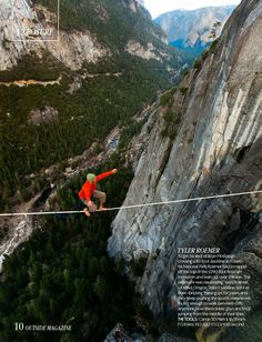 Brian Mosbaugh, highlines in Yosemite National Park. Outside Magazine | outdoor adventure sports editorial photography |