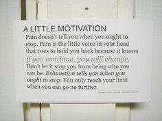 Motivation... how far will you go?