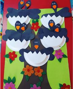 paper plate crow craft  |   Crafts and Worksheets for Preschool,Toddler and Kindergarten