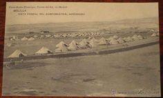 ANTIGUA POSTAL DE MELILLA. GUERRA DE MARRUECOS, RIF . VISTA PARCIAL DEL CAMPAMENTO EL HIPODROMO, cerca de Melilla - PH - Foto 1