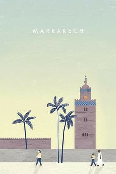 Love this very simple, but evocative #travel poster for #marrakech - minimalist but effective! Makes me want to go to #Morocco :-)